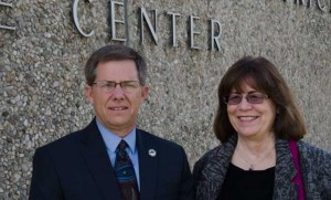 Charter Oak Superintendent Mike Hendricks and Assistant Superintendent Jeanine Robertson
